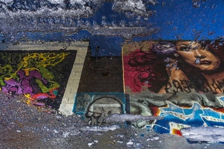 Street art vibes melting snow - ellophotography - galen1973 | ello