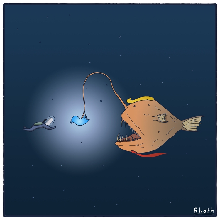 baited Trump Fish? support work - rhath | ello