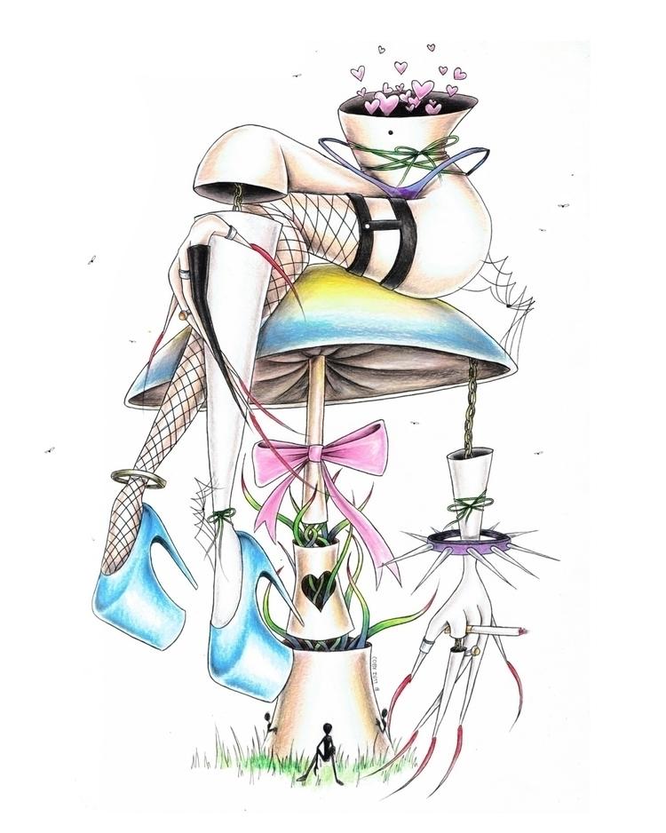 Alice - art, illustration, drawing - cobycuz | ello