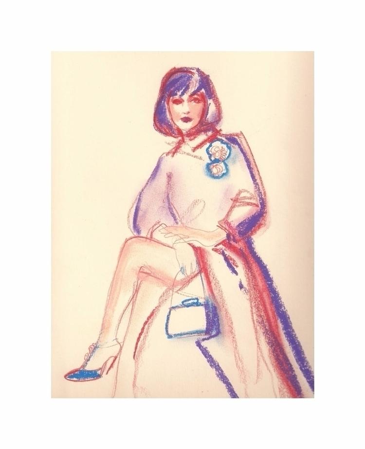 pastel lines - illustrations, morodan - michellepam | ello