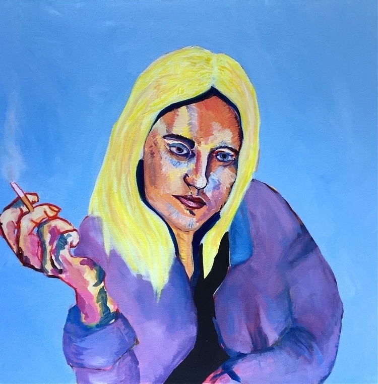 Marlowe 30 - painting, portrait - oliviadiamond | ello