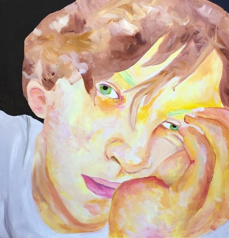Wyatt 30 - painting, portrait, art - oliviadiamond | ello