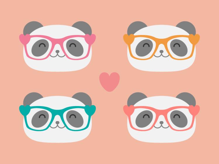 Panda Love - illustration, panda - tend | ello