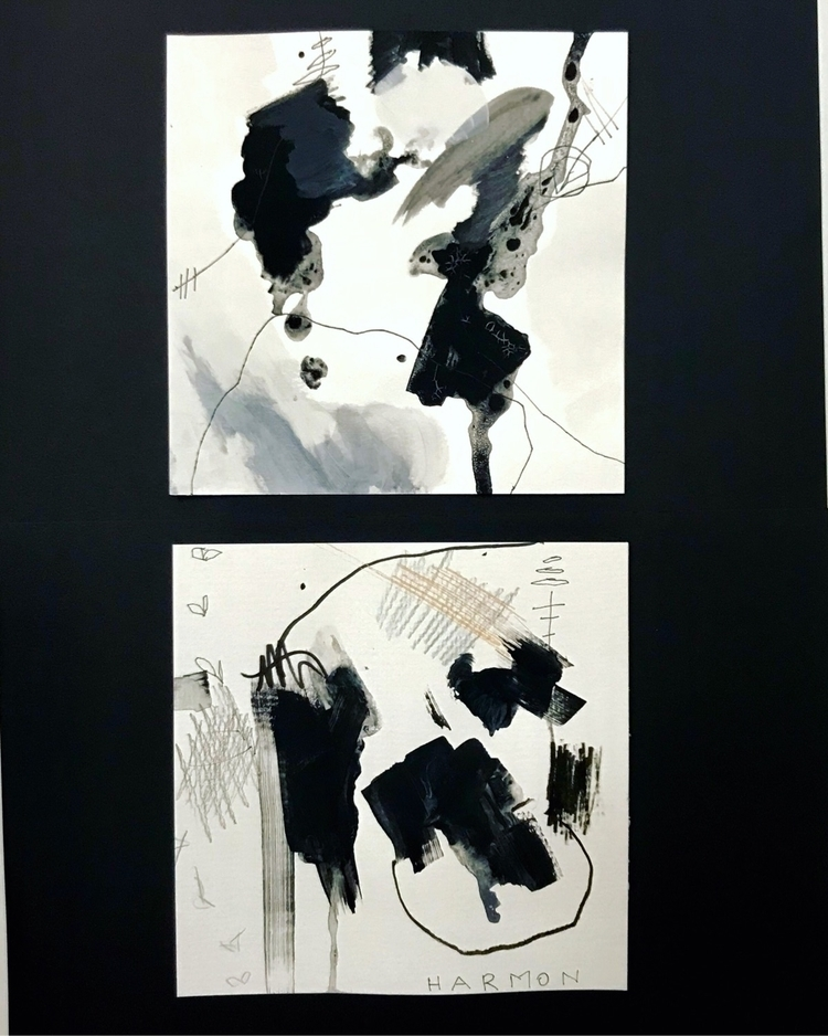 Stream Consciousness series - abstractexpressionism - pamelaharmonart | ello