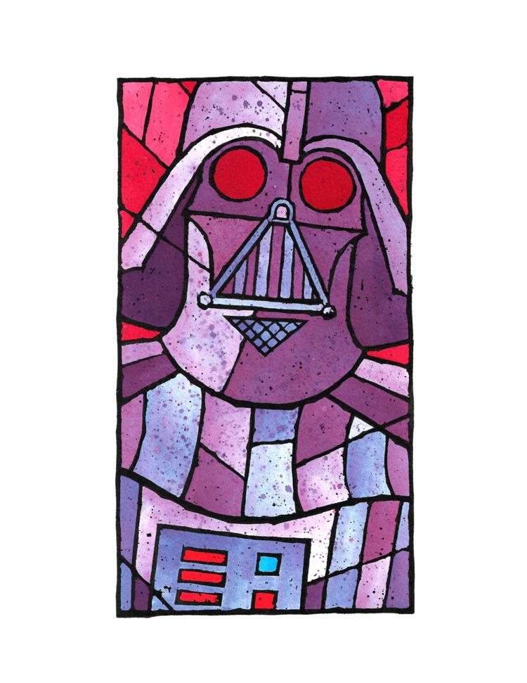 Darth Vader stainglass illustra - vincentvangoad | ello