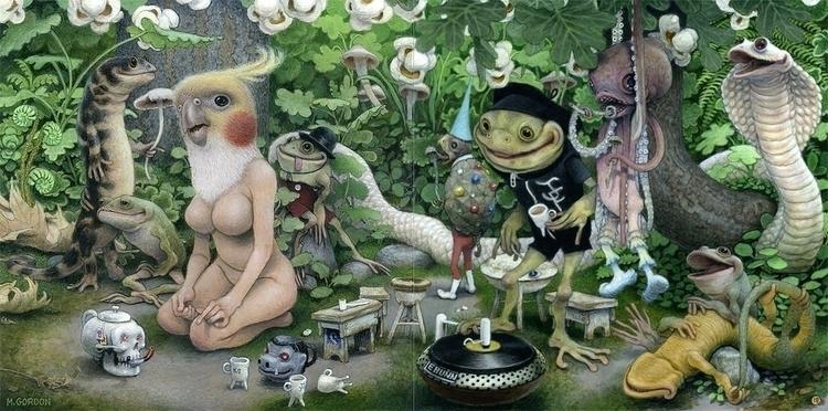 Connie Party~ acrylic gesso boa - _mattgordon_ | ello