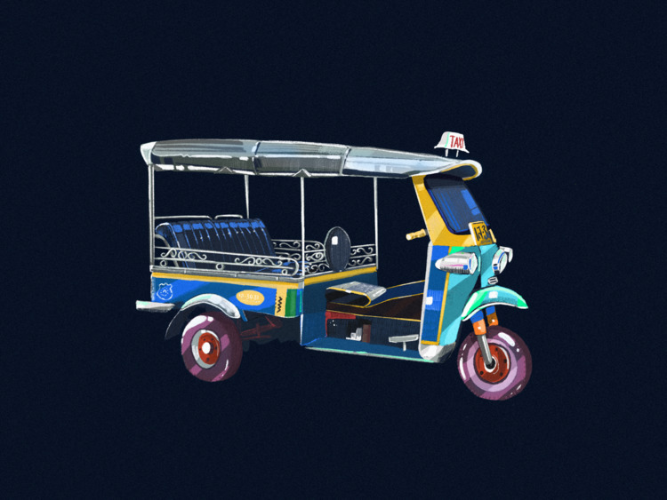 Auto rickshaw. illustration, 20 - imsugarcoated | ello