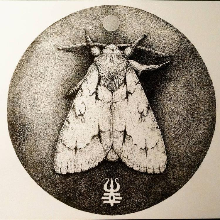 Moonmoth 200 200mm Ink paper - art - chord_eva   ello