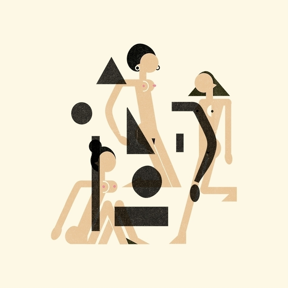 illustrations naked woman part  - schnuppe | ello