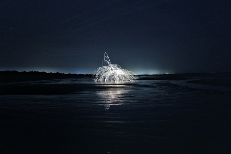 lightpainting, longexposure, beach - adriortega | ello