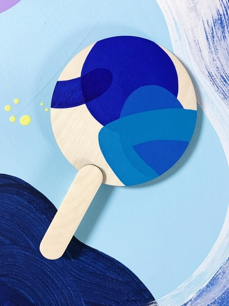 Ping Pong blue hues - abstractart - ninaminnebo | ello