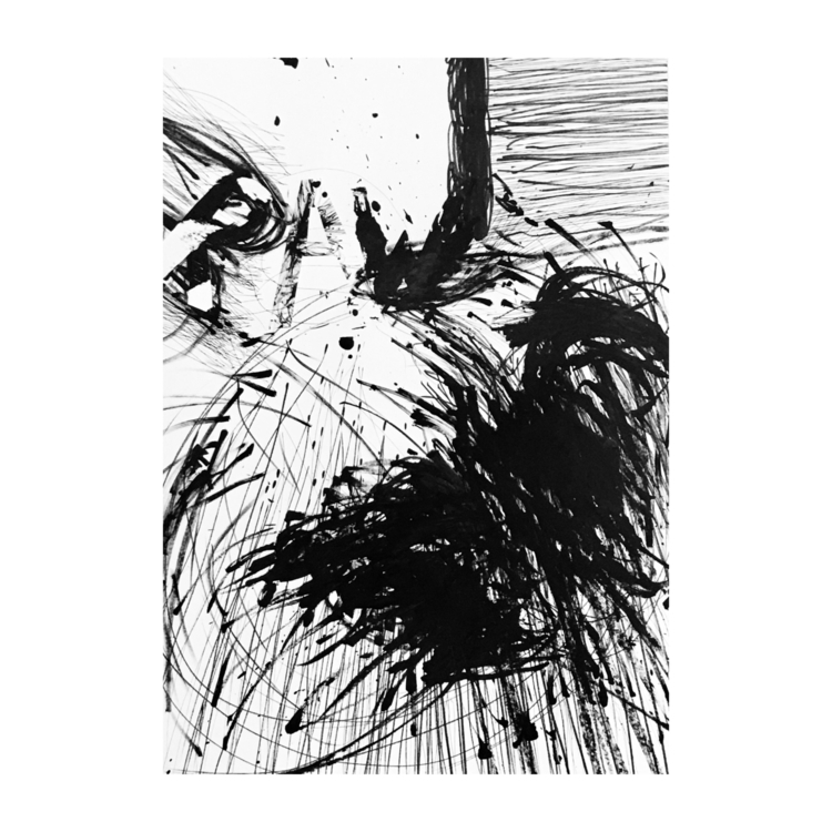 « Raw » (big) 70x100cms pen, ma - jeanmichelcomte | ello