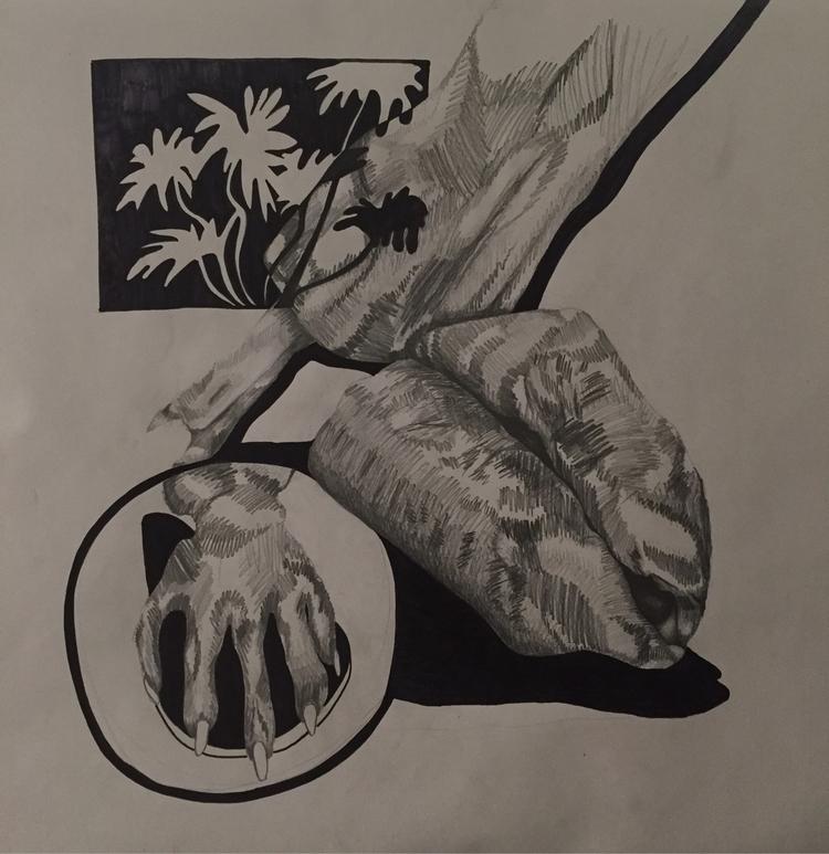 Life | graphite sharpie paper J - elnr | ello