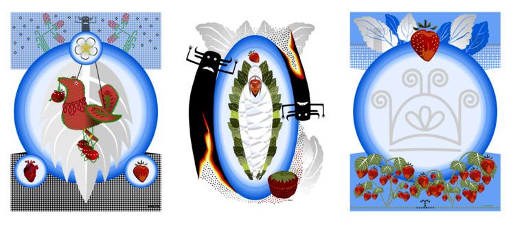 Good Spirits (triptych - okwari | ello