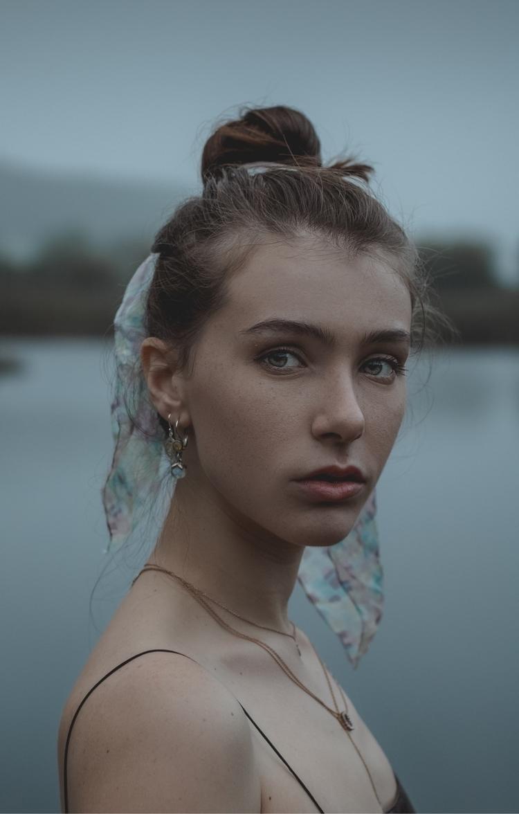 Blue lit actress - portrait, lifestyle - ragib | ello