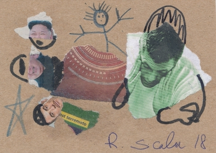 Wonderful mail art Robeto Scala - papiergedanken-collage-art | ello