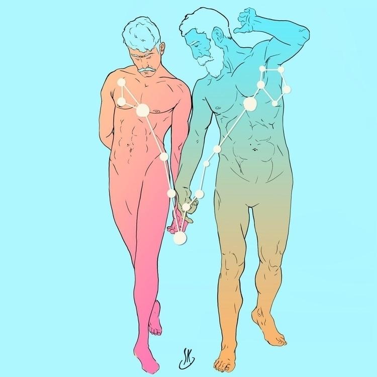 Pisces Original Illustration Ki - queerrilla | ello