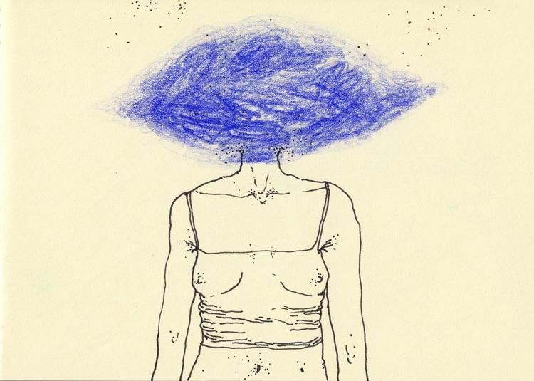 Head clouds, 2017 - art, drawing - amuto | ello