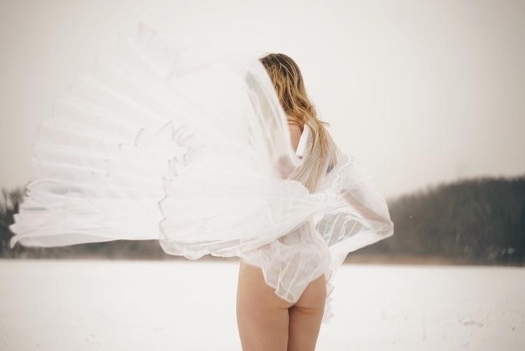 winter, surreal, selfportrait - kaylamsavage | ello