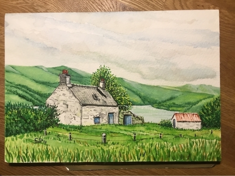 Scotland, watercolor paper - coenraadschaap | ello