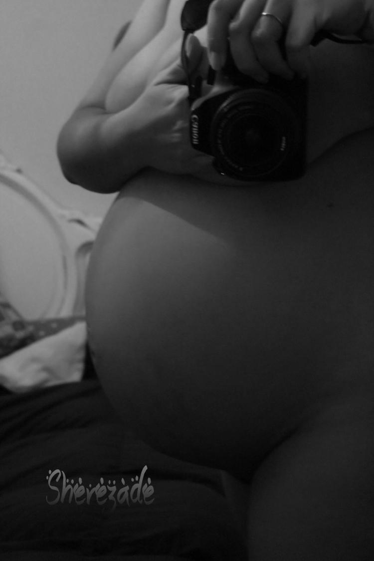 love - pregnant, gril, zoe, bw - shereative | ello