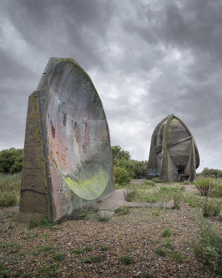 Denge sound mirrors Lydd Sea (K - forgottenheritage | ello