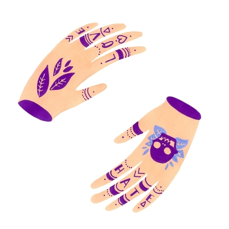 Tattooed Hands — 2 prefer? :hea - snailisa | ello