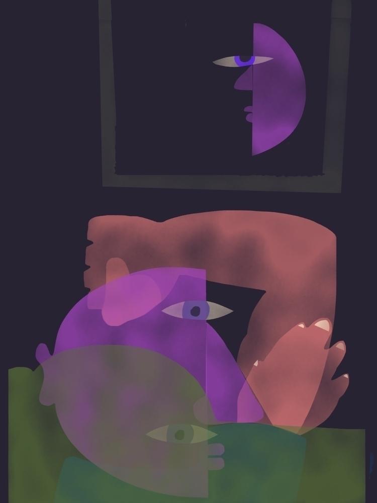 Moon Stole Face - dickiesaul | ello