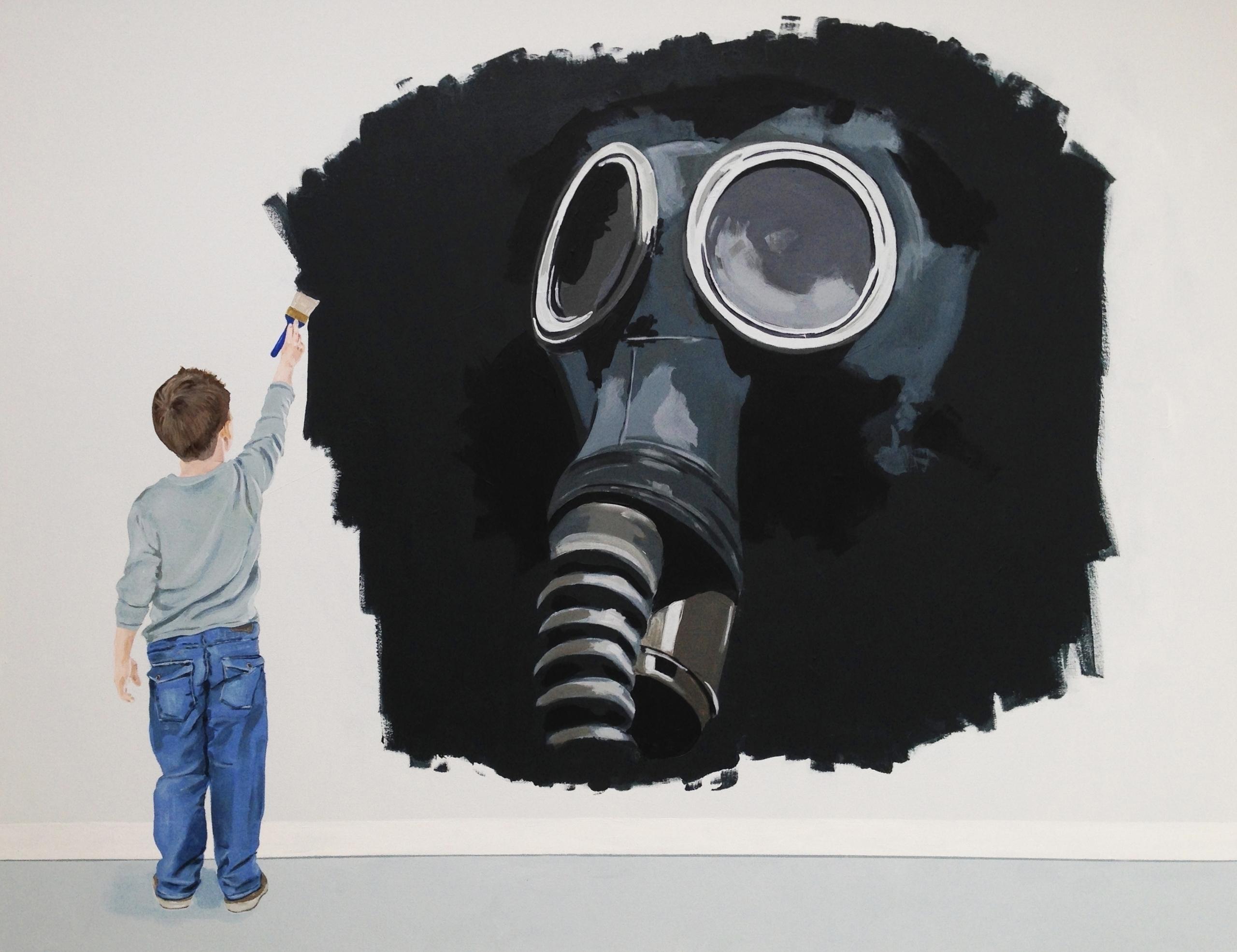 Painted Mask 48X60 acrylic/canv - jeffbessart   ello