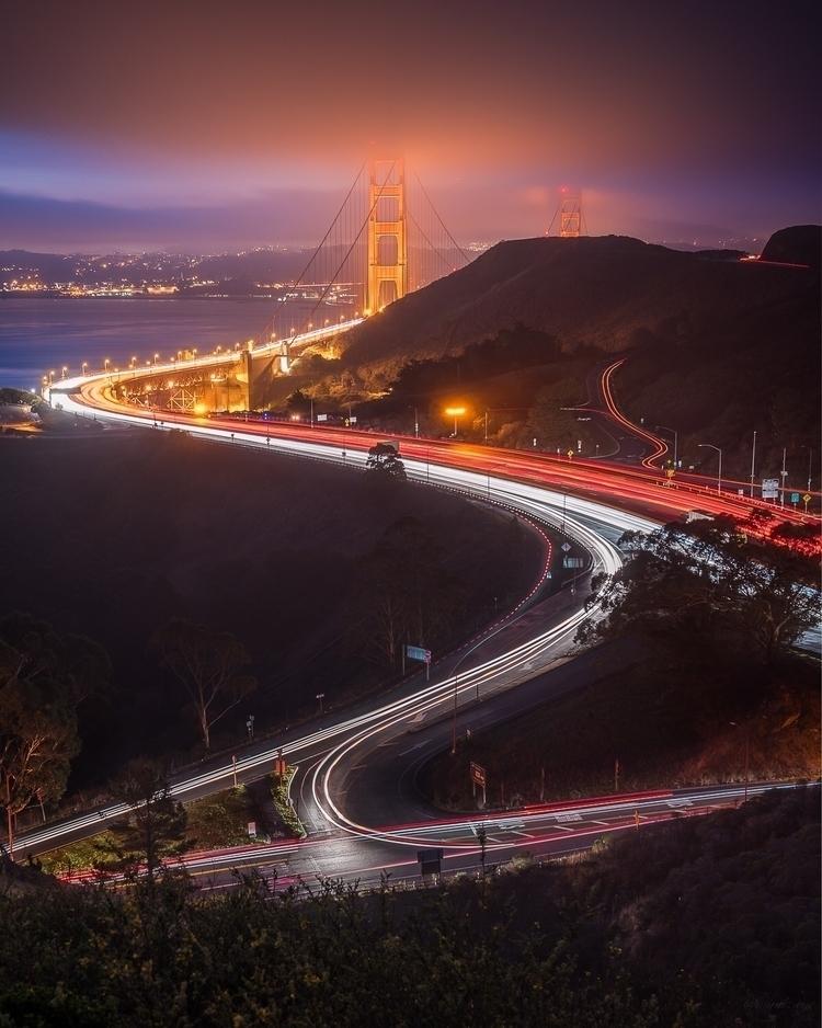 Morning blue hour Golden Gate B - mindzeye | ello