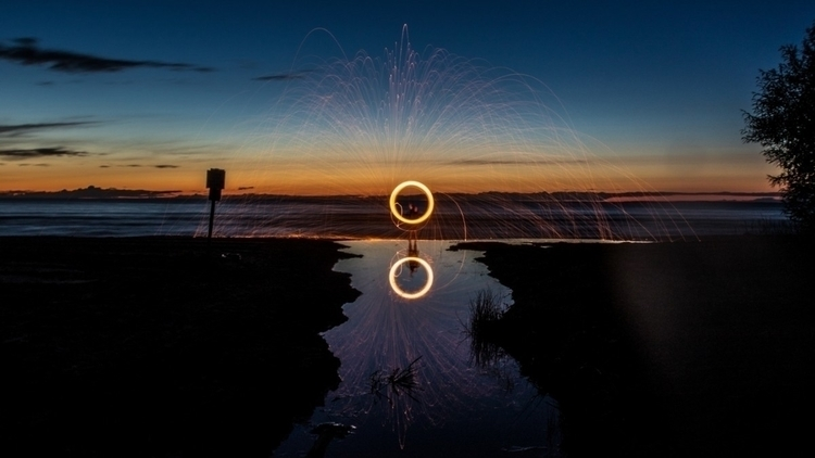 steel wool sunset - steelwool, spinning - vnrphotography | ello