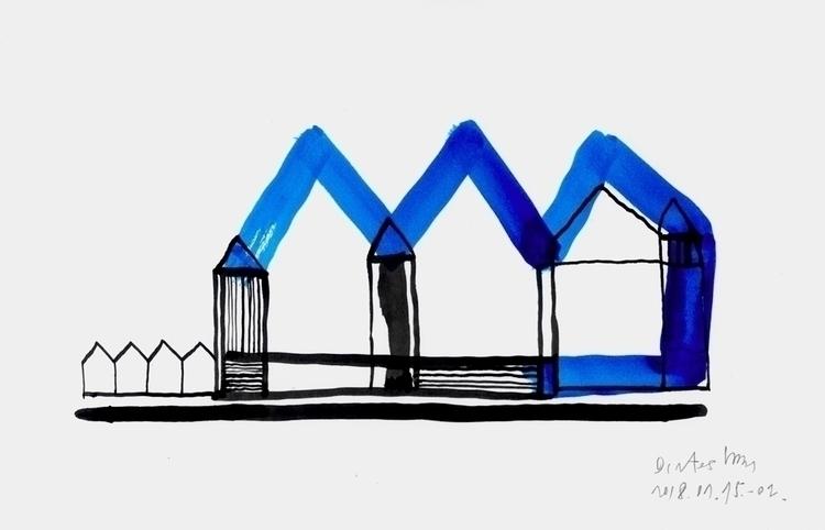Blue Black Houses - January 16 - istvanocztos | ello