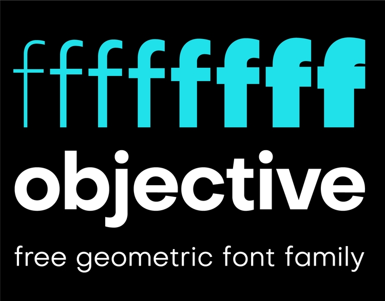 Objective free geometric font f - slobzheninov | ello