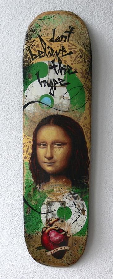 Hype // acrylics skateboard - piek7 | ello