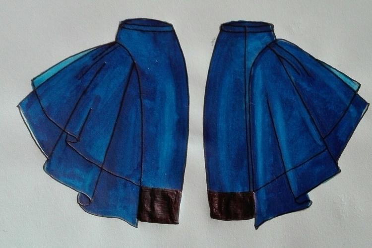 Blue skirt tulle - susanacao | ello