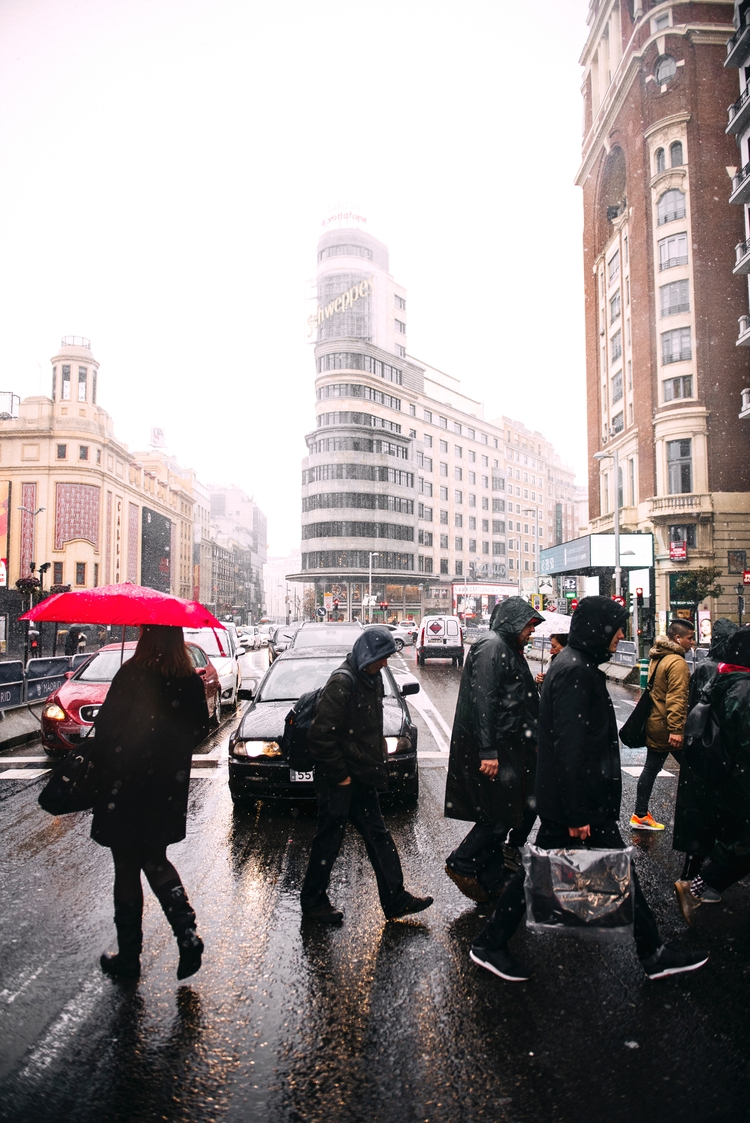 Snow, Madrid - Street, City, snow - dhne | ello