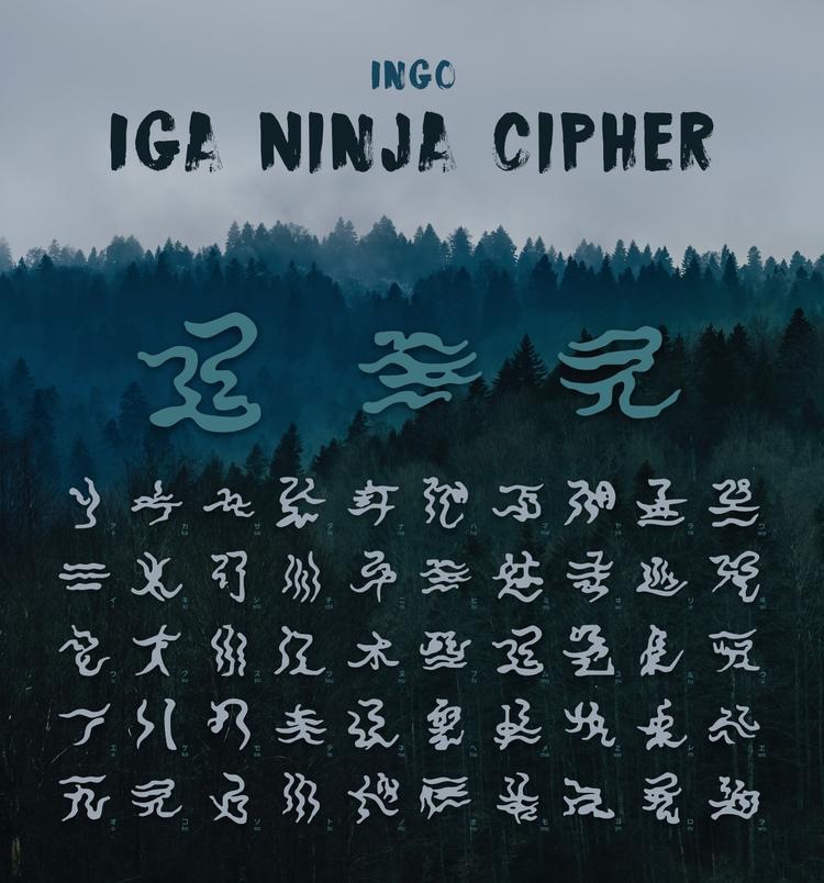 Iga Ninja Font created image Mu - kogakure | ello