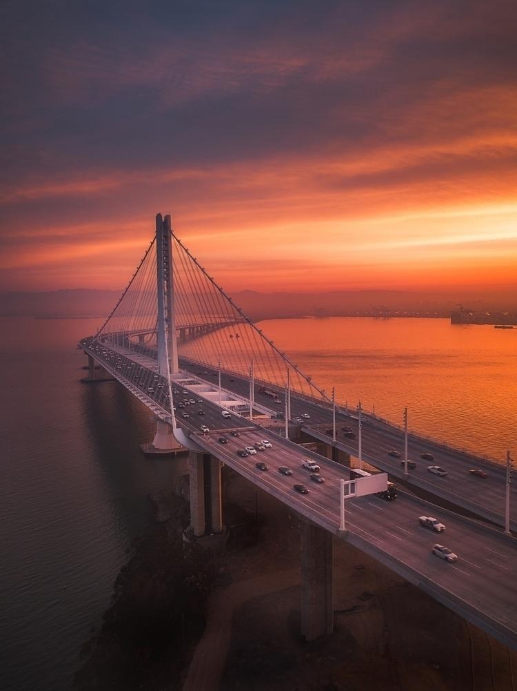 fiery sunrise San Francisco. wi - stuckonearth   ello
