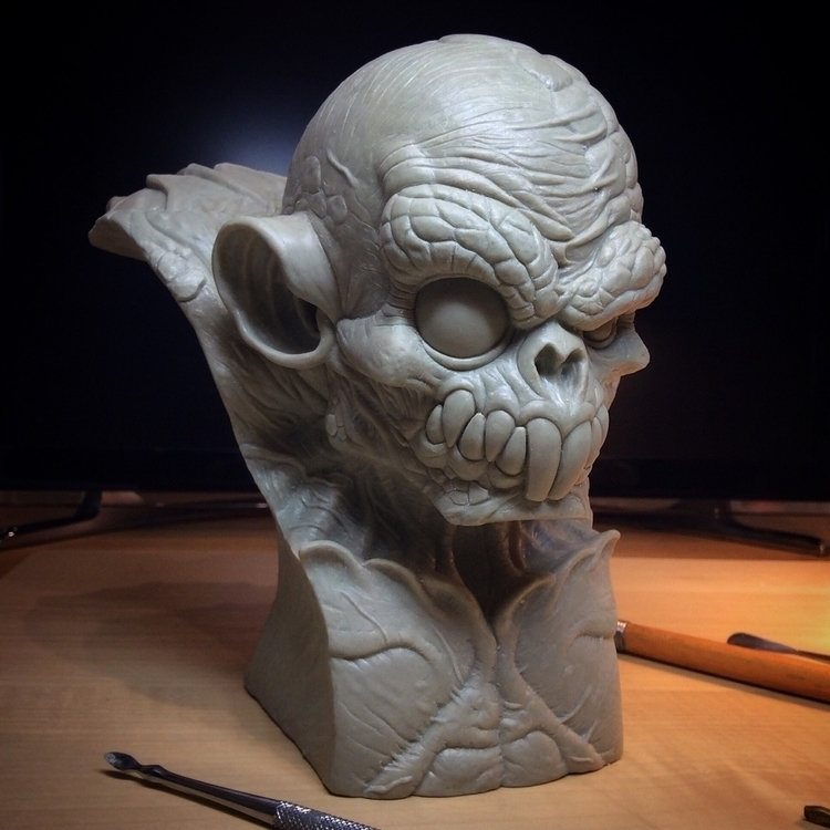 Sewer Mutant bust Work progress - jdmacsculpts | ello