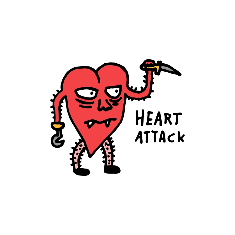 Heart Attack - Illustration, zootghost - zootghost | ello