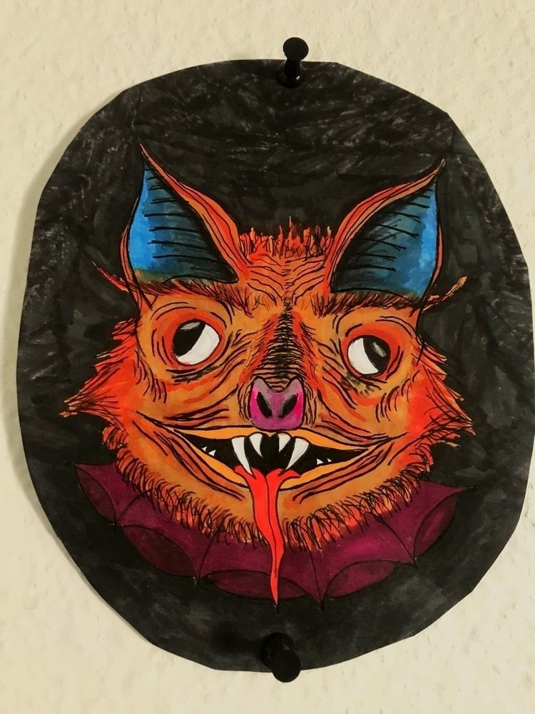 bat dude drew started practicin - kingratart | ello