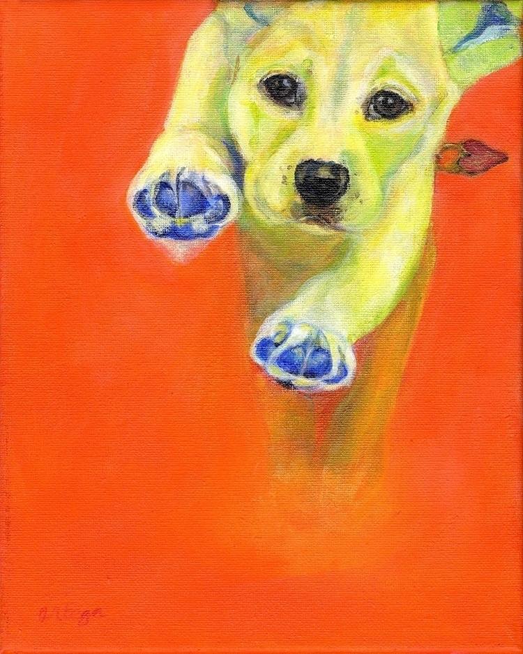 Buddy - dogart, petportrait, puppyart - lesleeortegaart | ello