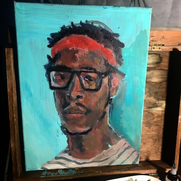 "portrait 21"" acrylic - staychill | ello"