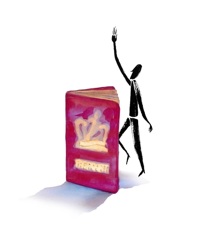 illustration, vote, passport - zeptilian | ello