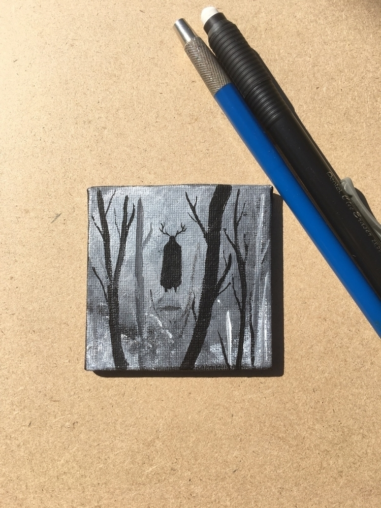 Small painting lurks woods - create_morr | ello