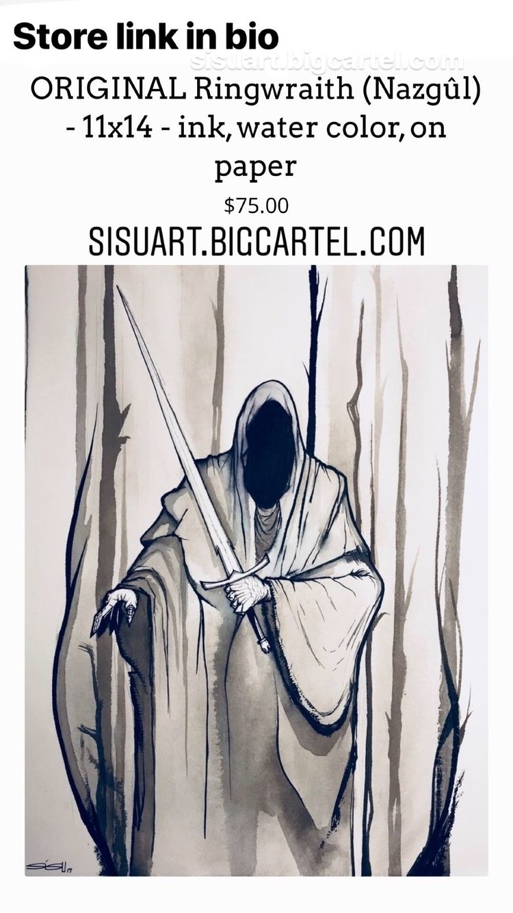 Original ringwraith drawing sho - sisuillo | ello