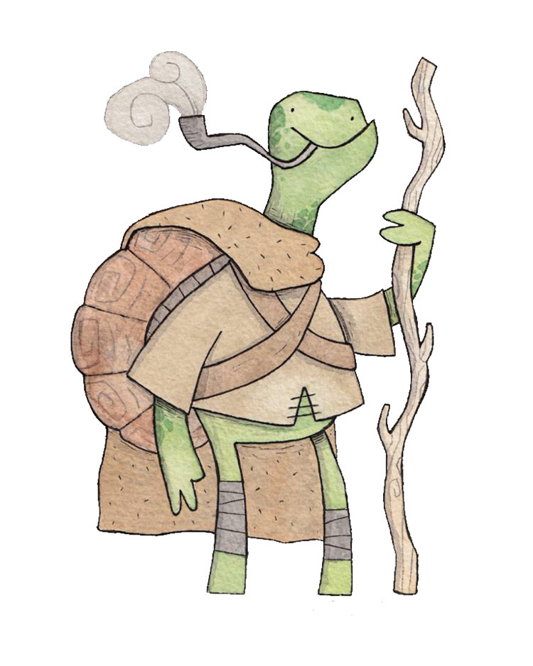 year, Tortle Druid - art, illustration - ajarofbees | ello
