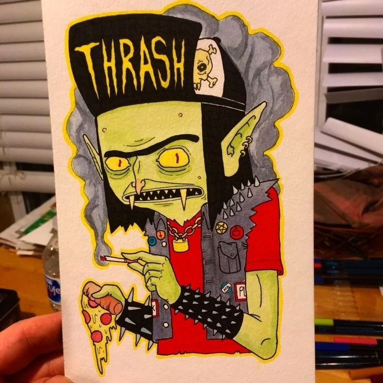Thrash Goblin 5.5x8.5 watercolo - duhstee_parker   ello