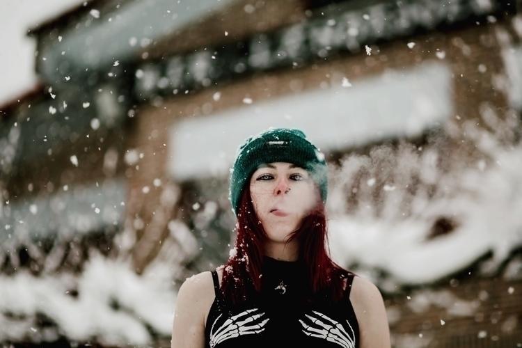 portrait, retrato, girl, nieve - slraquel | ello