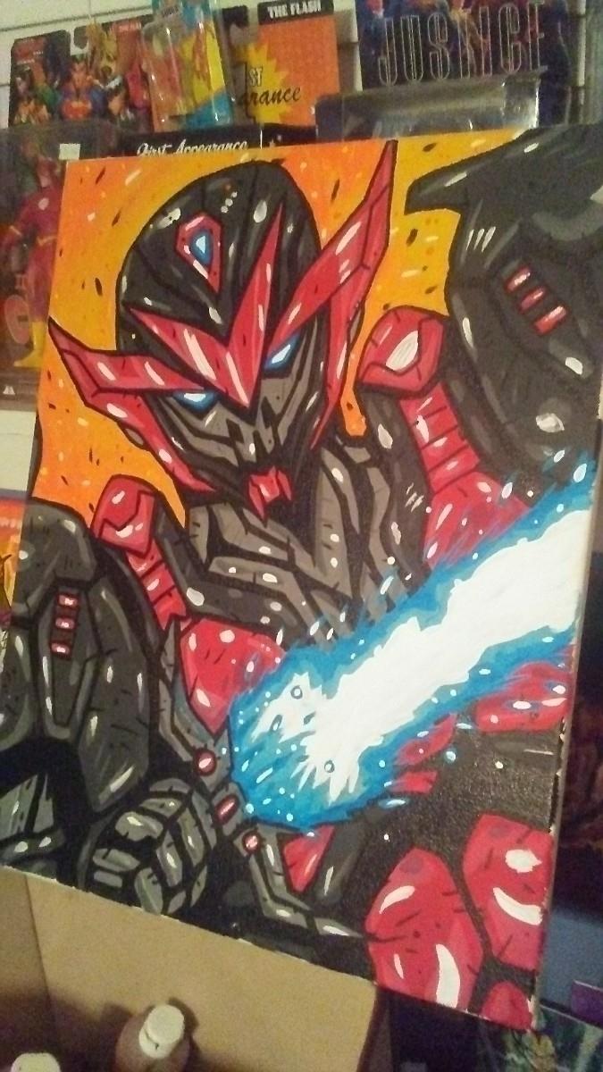 16x20 Warrior Mech 00 - art, artwork - eskeletos_art | ello